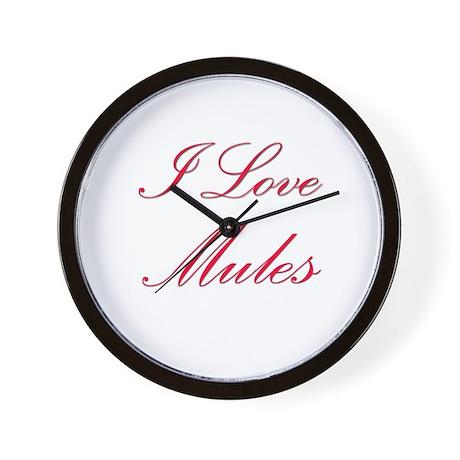 I Love Mules Wall Clock
