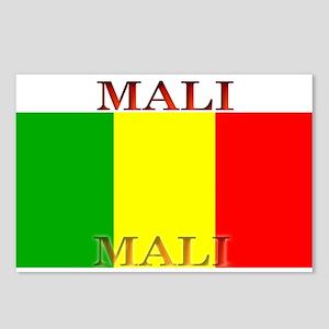 Mali Malian Flag Postcards (Package of 8)