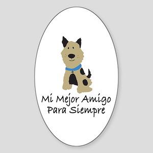 Mi Mejor Amigo Para Siempre Oval Sticker