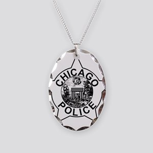 Chicago police Necklace Oval Charm