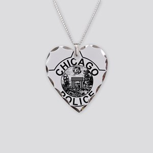 Chicago police Necklace Heart Charm