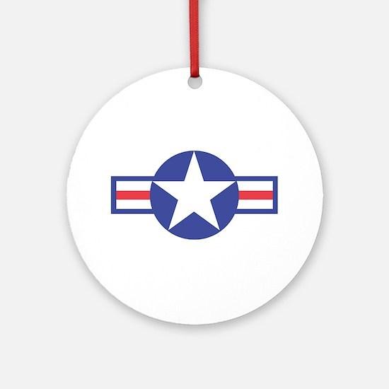 US USAF Aircraft Star Keepsake (Round)