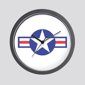 US USAF Aircraft Star Wall Clock