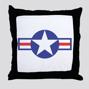 US USAF Aircraft Star Throw Pillow