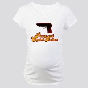 Pump and Squirt Action Maternity T-Shirt