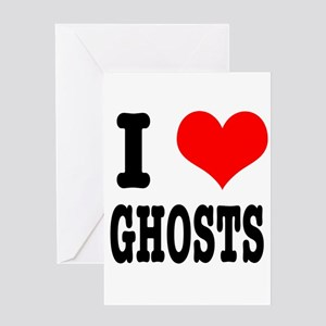 I Heart (Love) Ghosts Greeting Card