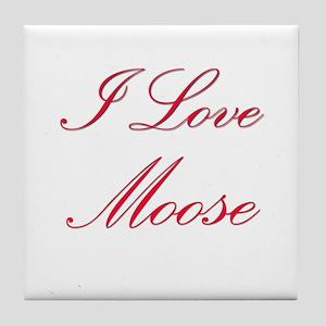 I Love Moose Tile Coaster