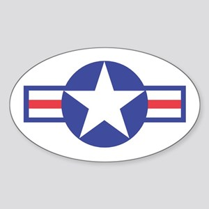 US USAF Aircraft Star Oval Sticker