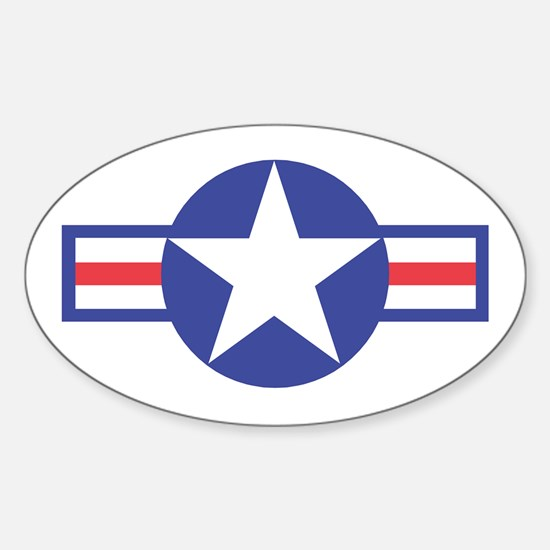 US USAF Aircraft Star Oval Decal