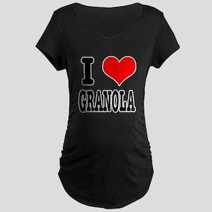 I Heart (Love) Granola Maternity Dark T-Shirt