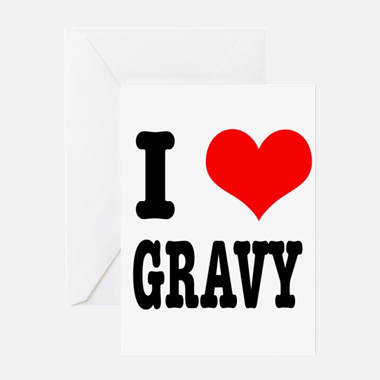 I Heart (Love) Gravy Greeting Card