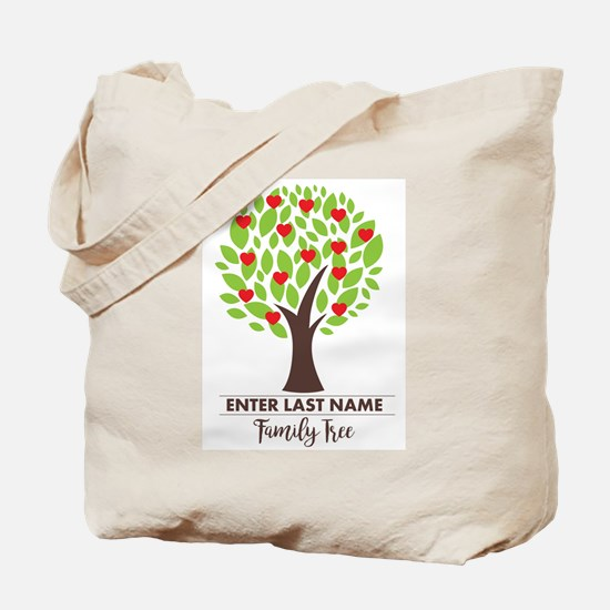 Personalized Last Name - Family Tree Tote Bag