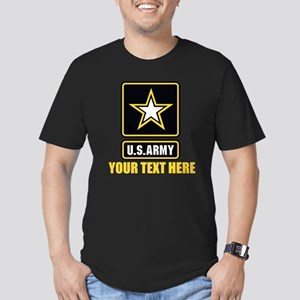 U.S. Army Logo Persona Men's Fitted T-Shirt (dark)