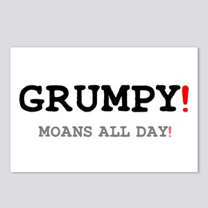 GRUMPY - MOANS ALL DAY! Postcards (Package of 8)