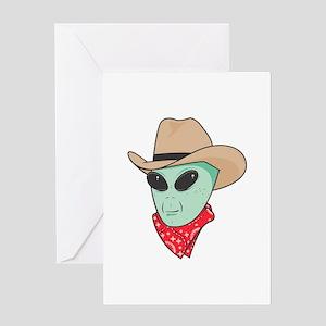 Cowboy Alien Greeting Card