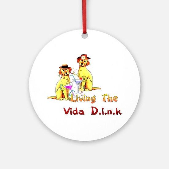 Vida Dink Ornament (Round)
