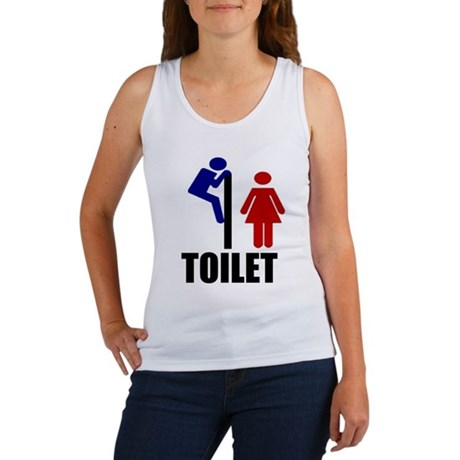 Toilet Peek Women's Tank Top