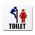 Toilet Peek Mousepad