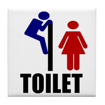 Toilet Peek Tile Coaster