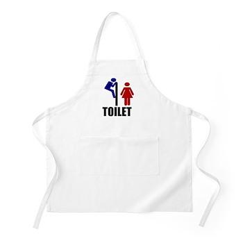 Toilet Peek BBQ Apron