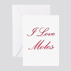 I Love Moles Greeting Cards (Pk of 10)