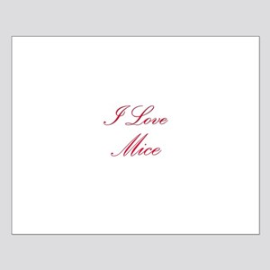 I Love Mice Small Poster
