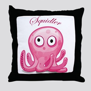 Squidler Throw Pillow