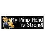 Rosie the Riveter's Pimp Hand Bumper Sticker