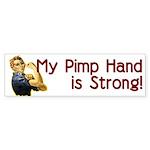 Rosie the Riveter's Pimp Hand Sticker (Bumper 50 p