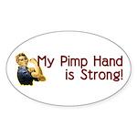 Rosie the Riveter's Pimp Hand Oval Sticker (10 pk)