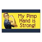 Rosie the Riveter's Pimp Hand Rectangle Sticker 1