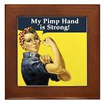 Rosie the Riveter's Pimp Hand Framed Tile
