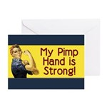Rosie the Riveter's Pimp Hand Greeting Cards (Pk o