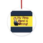 Rosie the Riveter's Pimp Hand Ornament (Round)