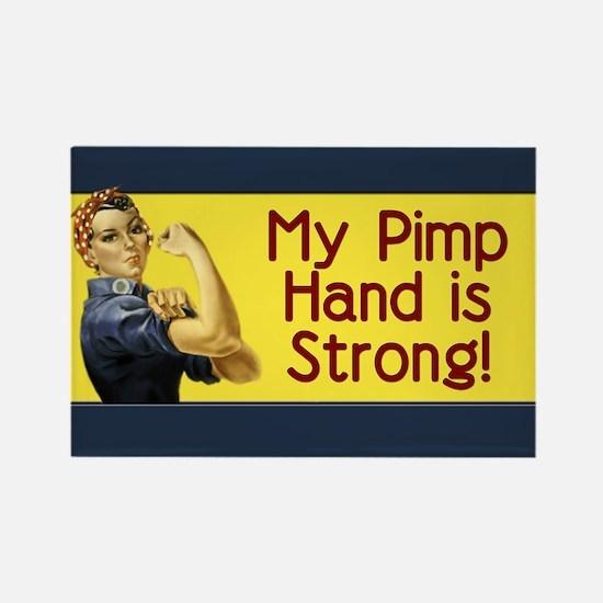 Rosie the Riveter's Pimp Hand Rectangle Magnet