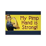 Rosie the Riveter's Pimp Hand Rectangle Magnet (10