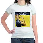 Rosie the Riveter's Pimp Hand Jr. Ringer T-Shirt