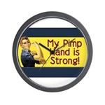 Rosie the Riveter's Pimp Hand Wall Clock