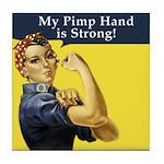 Rosie the Riveter's Pimp Hand Tile Coaster