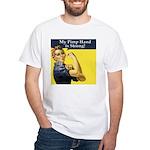 Rosie the Riveter's Pimp Hand White T-Shirt