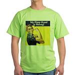 Rosie the Riveter's Pimp Hand Green T-Shirt