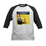 Rosie the Riveter's Pimp Hand Kids Baseball Jersey