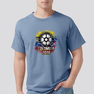 Soccer Colombia Team 201 Mens Comfort Colors Shirt