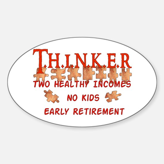 Child-Free Thinker Oval Decal