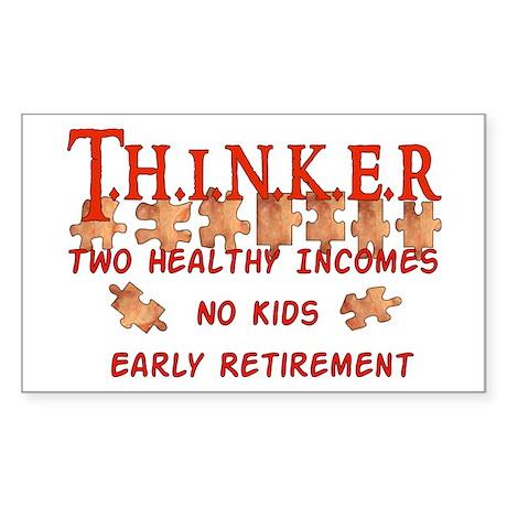 Child-Free Thinker Rectangle Sticker