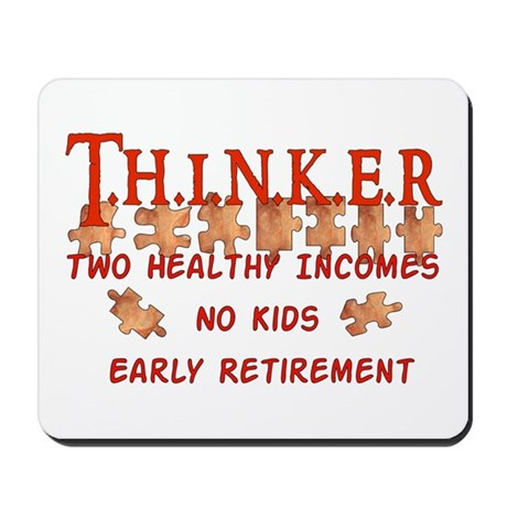 Child-Free Thinker Mousepad