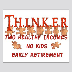 Child-Free Thinker Small Poster