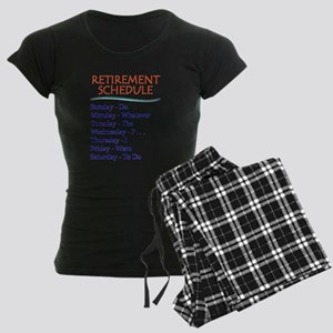 Retirement Schedule Gifts for Retirement Pajamas