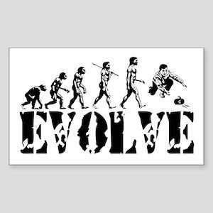 Curling Evolution Rectangle Sticker