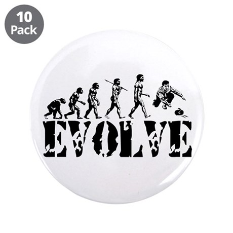 "Curling Evolution 3.5"" Button (10 pack)"